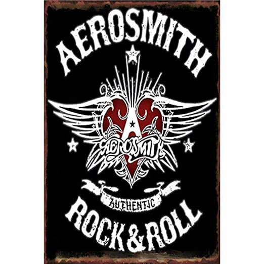 Froy Old Printing Rock Roll - Aerosmith Pared Cartel de ...