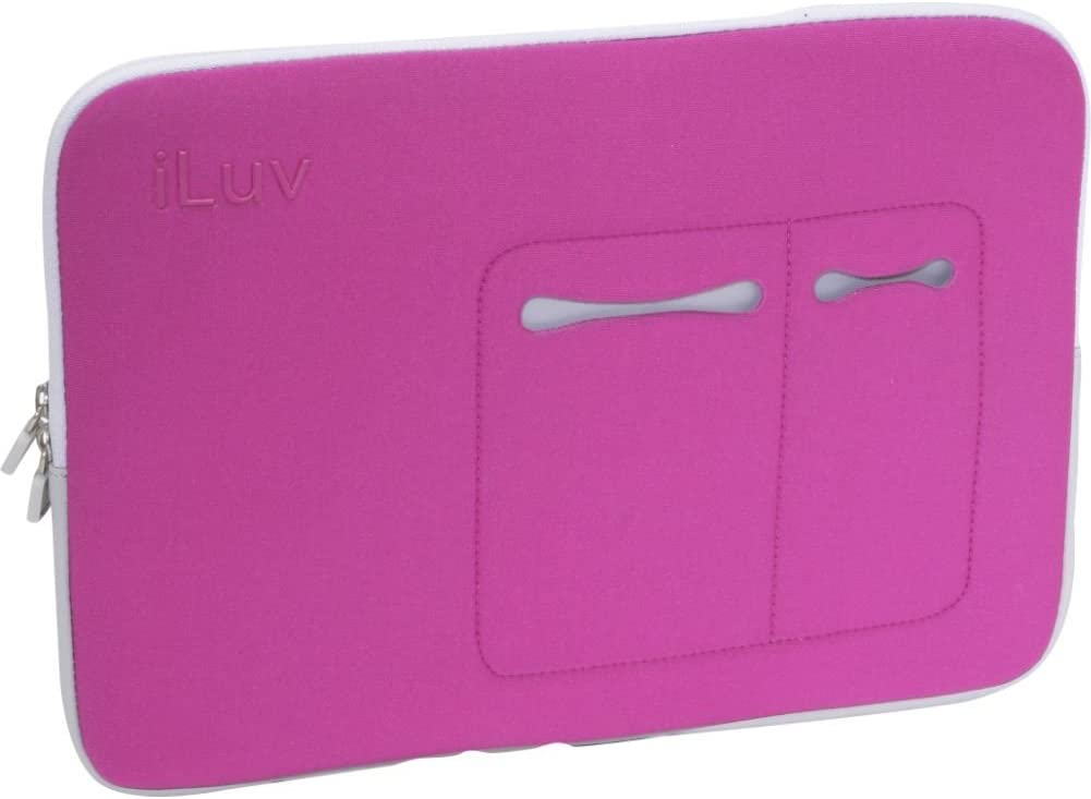 iLuv Mini Laptop Sleeve for 13-Inch MacBook Pro, MacBook Air, and Other 13-Inch Laptops - Pink (iBG2010PNK)