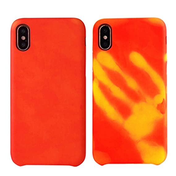 timeless design ba752 35bcf Creative Heat Sensitive Case iPhone X, fengus Magical Thermal Sensor Phone  Cover Soft PC Back Case for Apple iPhone x with Temperature Thermal ...