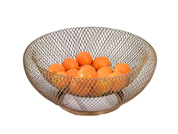 Cesta De Frutas TazóN De Almacenamiento Titular Frutos Secos Cocina Arte De La Sala De Hierro