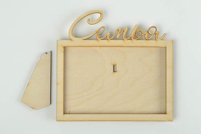 Portaretrato para fotos artesanal figura para decorar decoracion de interior: Amazon.es: Hogar