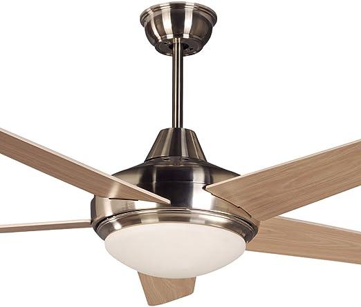 Ventilador de Techo LED Luz Ventilador Simple con Control Remoto ...