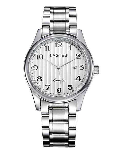 SHOUBIAO® Reloj Reloj De Moda Retro Cuarzo Acero Inoxidable Impermeable Casual Los Hombres De Negocios