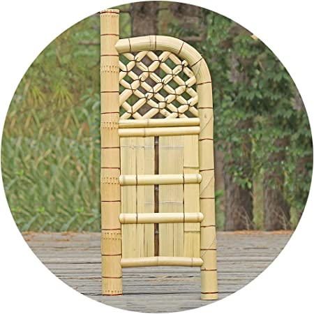 YYFANG Valla Madera Diseño De Patio De Jardín Tipo De Pantalla Puerta De Valla De Bambú Proceso Resistente Al Agua Tratamiento Resistente A La Corrosión (Color : Beige, Size : 45x120cm): Amazon.es:
