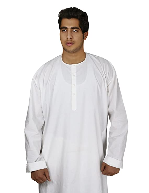 629a4925c0 Handmade White Cotton Men s Kurta Pajamas Set - Traditional Indian Costume  - Perfect for Casual Summer Dress  Amazon.co.uk  Toys   Games