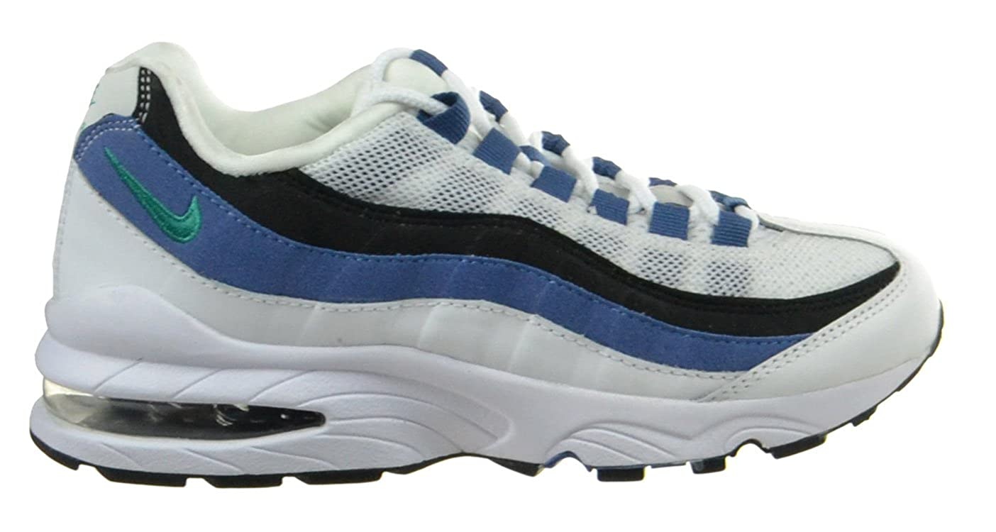 1a23b48ea1fe Amazon.com  Nike Air Max  95 (GS) Big Kids Basketball Shoes White New  Green Blue Slate Black White Blue Black 307565-105-7  Shoes