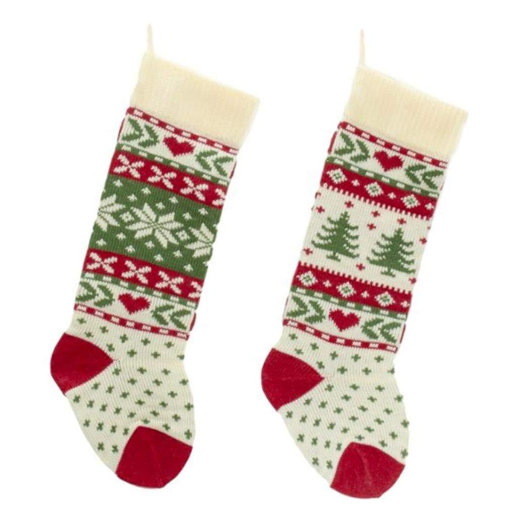 Amazon.com: Kurt Adler Red, Ivory And Green Christmas Tree And ...