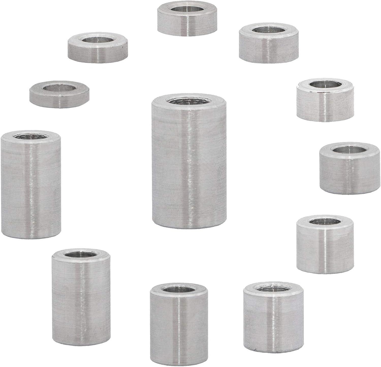 FASTON Lot de 4 douilles de distance en aluminium M6 /Ø int/érieur 6,5 mm /Ø ext/érieur 12 mm
