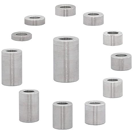 FASTON Aluminium Distanzh/ülsen M10 /Ø innen 10.5 mm 4 St/ück H/ülsen Abstandsh/ülsen Buchse Distanzbuchsen Abstandsbuchsen Schildhalter /Ø Au/ßen 20 mm L/änge 5 mm