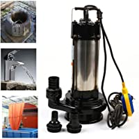 Bomba De Aguas Residuales De 1500W 36000 L/H De Acero Inoxidable Bomba Sumergible Para Fuentes Bomba De Agua De…