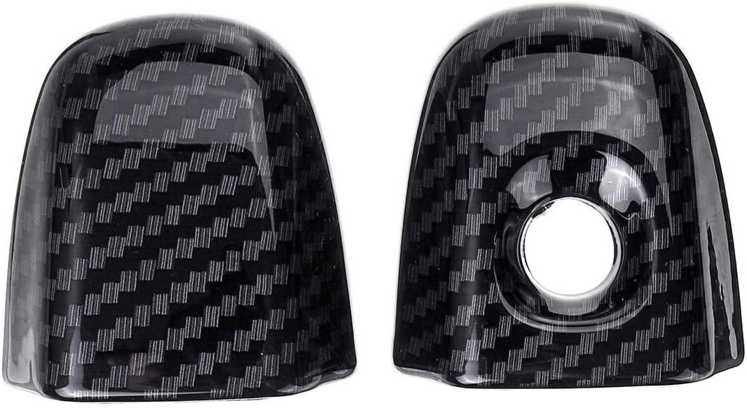 QQKLP Carbon Black Front Door Sch/üsseldeckel Trim /& Handgriff-Abdeckung Trim ABS Fit f/ür CHR CHR 2016 2017 2018 Car Styling Zubeh/ör