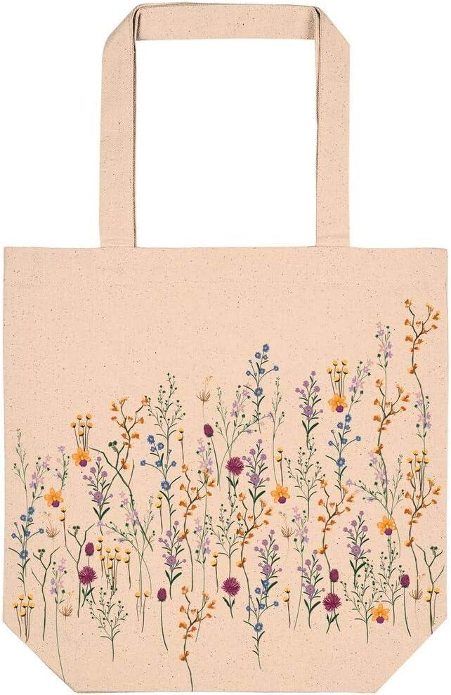 Moses Bolsa de la Compra de algodón ecológico, con diseño de Flores, práctica como Bolsa de Compra y de Ocio, Algodón orgánico, Flores, Crema: Amazon.es: Equipaje