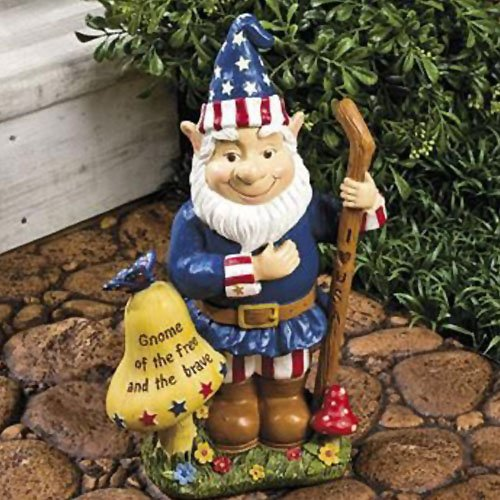 Delightful Amazon.com : Patriotic Americana Garden Gnome Statue : American Flag Gnome  : Patio, Lawn U0026 Garden