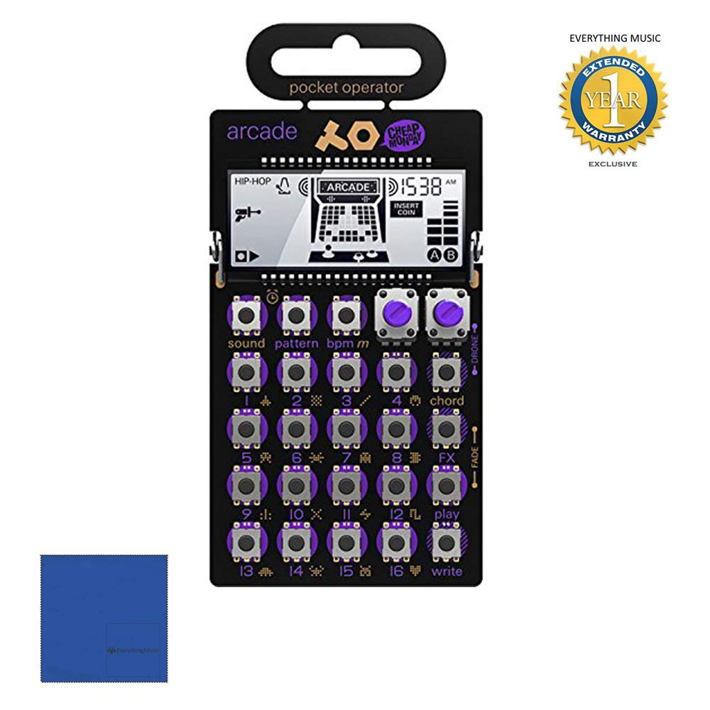 Teenage Engineering Pocket Operator PO-20 Arcade 010.AS.020 Synthesizer with Microfiber and 1 Year Everything Music Extended Warranty by Teenage Engineering.