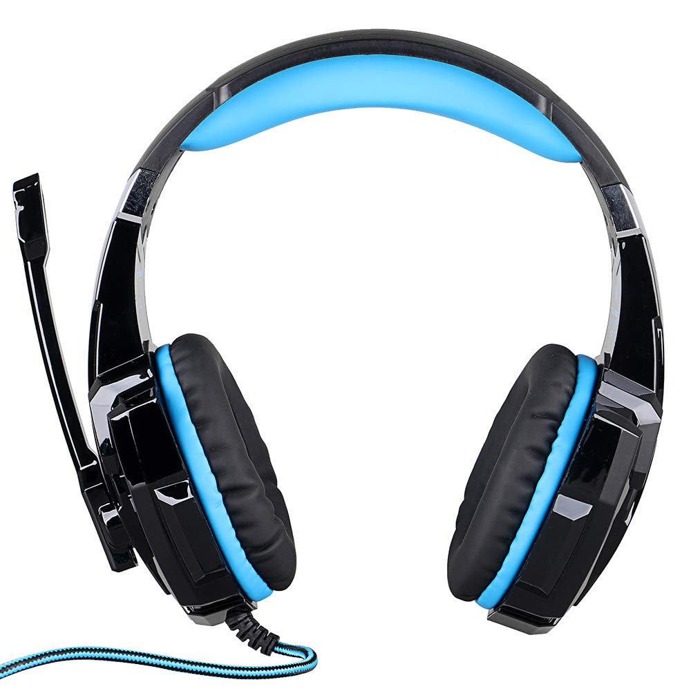 LED Light Gaming Headphone with Microphone, G9000 3.5mm Surround Stereo Game Earphone Noise Cancelling Mic for Laptop Tablet PS4 Mobile Phones (Blue) by NLDK-Headset (Image #7)