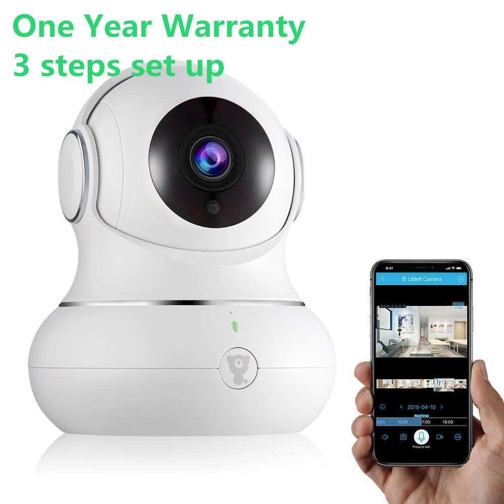 Home Wireless baby monitor Security Camera Remote Control Elder Kids/Nanny/Pets 720P HD Indoor door WiFi Surveillance IP Camera with Motion Detection Night Vision Monitor Cam Littlelf for ISO/Android
