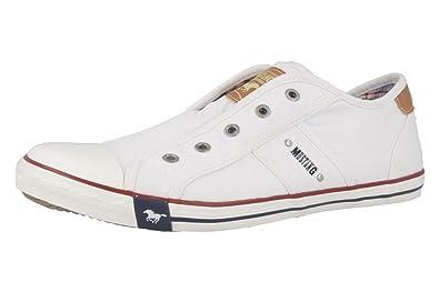 MUSTANG - zapatillas para mujer - blanco zapatos en talla, color blanco, talla 43: Amazon.es: Zapatos y complementos