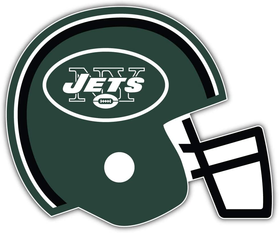 Jets Football New York Green Helmet Sport Decal 5 X 4