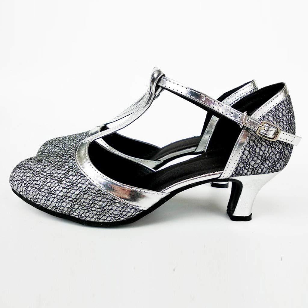 QUICKLYLY Zapatos Tac/ón//Tacones Altos Bajo Baile Latina Danza Salon Mujer Calzado Salsa Jazz Tango Fiestas Verano 2019 Sandalias Stiletto,35-41CN