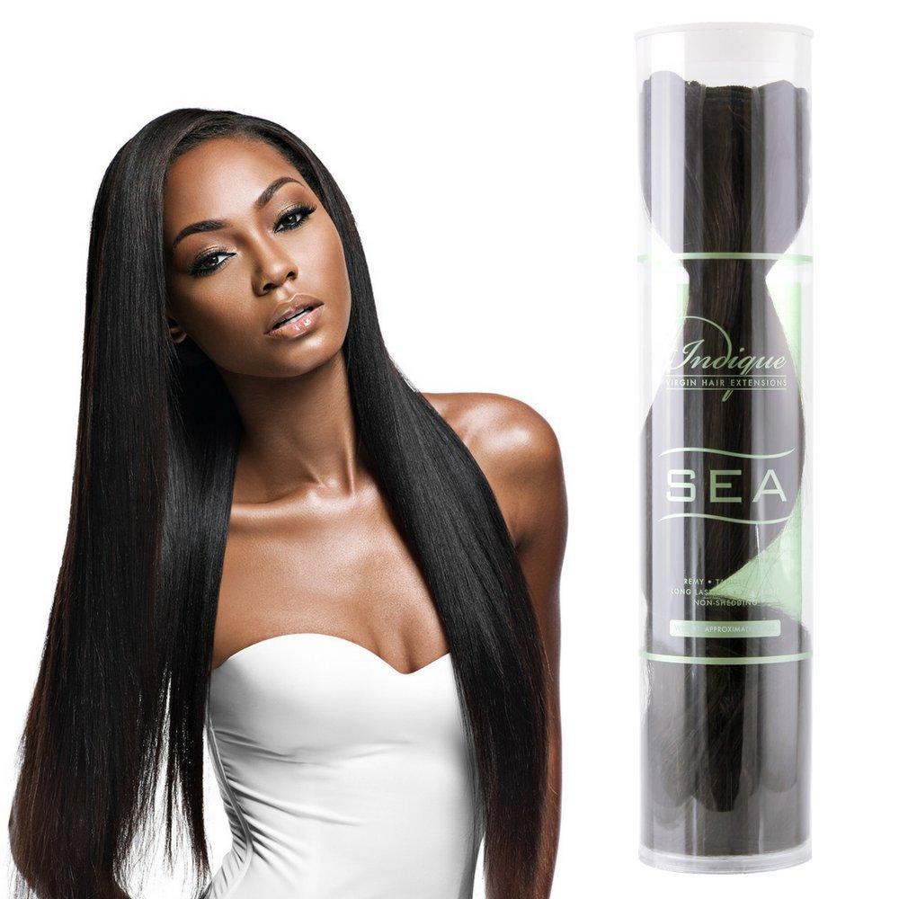 Amazon Indique Virgin Hair Extensions Sea Bali Straight 12