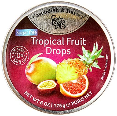 Bala de Frutas Tropicais Zero Açúcar Cavendish & Harvey Lata 175g