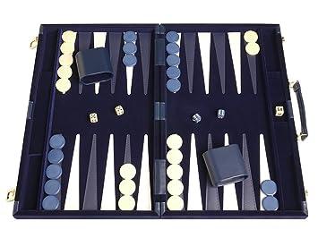 Amazon deluxe backgammon set board game blue 18x12 deluxe backgammon set board game blue 18quot publicscrutiny Choice Image
