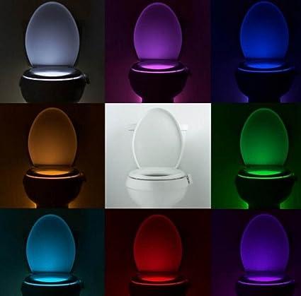 XGMSD Aseo Luz De La Noche Del Sensor De Movimiento LED WC Activado Enciende Con Pilas
