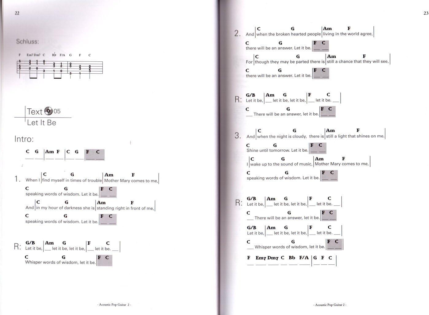Acoustic Pop Guitar bande 2 avec CD - INTRODUCTION dans le monde ...