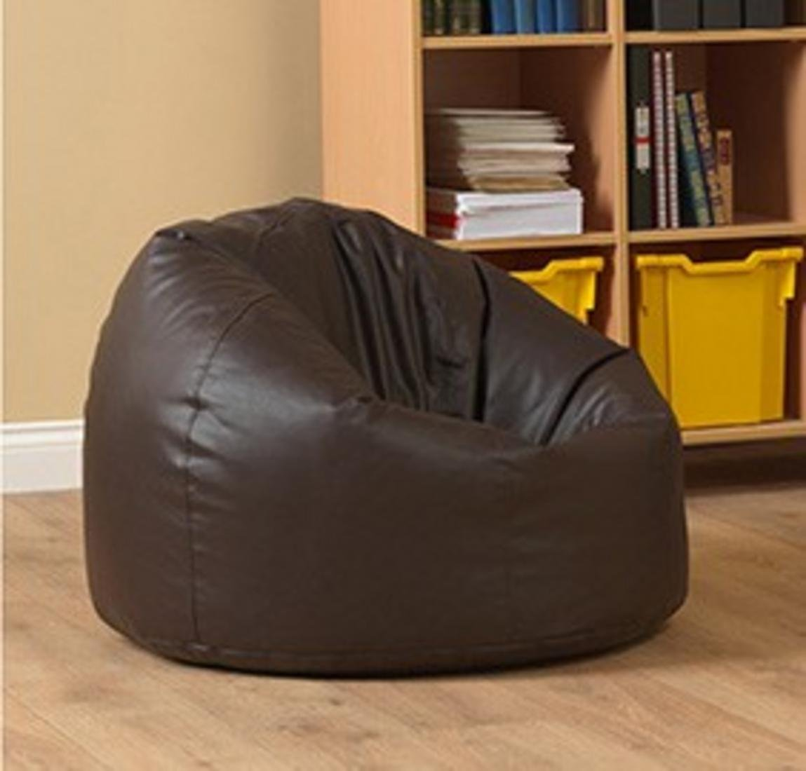 Sensational Ink Craft Xxxl Retro Classic Extra Large Bean Bag Dark Chocolate Brown Chair Without Bean Filling Suitable For Senior And Healthy Person Upto 100Kg Machost Co Dining Chair Design Ideas Machostcouk