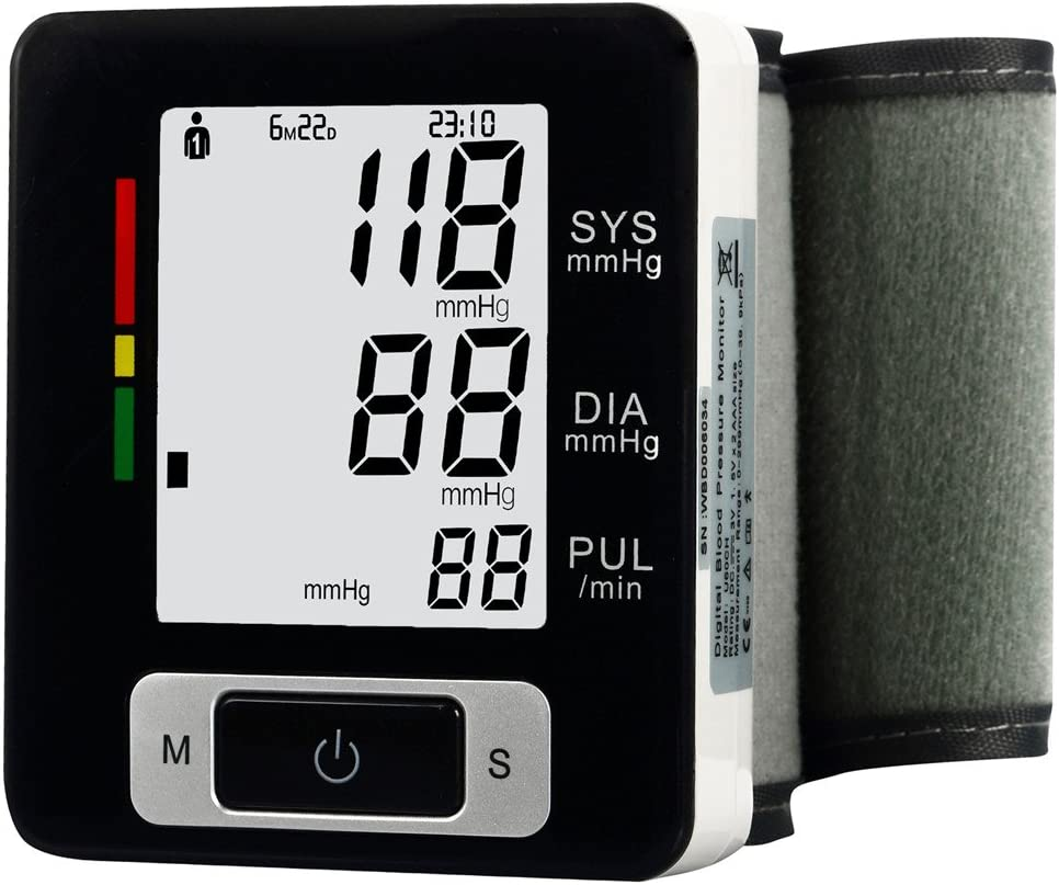 Ekano Automatic Wrist Blood Pressure Monitor FDA Approved with Portable Case, Two User Modes, Adjustable Wrist Cuff,IHB Indicator and 90 Memory Recall