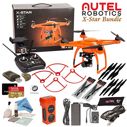 Autel Robotics X-Star Drone with 4K Camera & Wi-Fi HD Live View w/ eDigitalUSA Advanced Bundle (Orange)