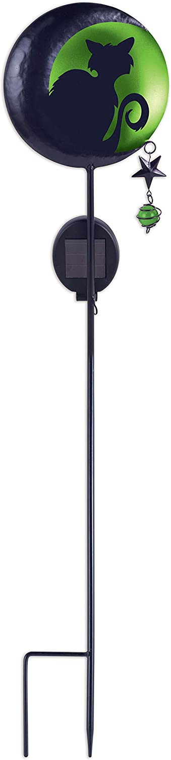 Sunset Vista 15799 Halloween-Fright Night Garden Stake with Solar-Powered Light, 48-Inches, Cat