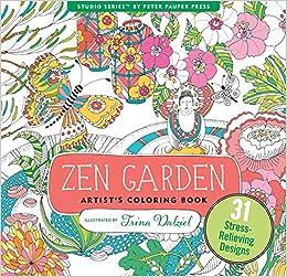 Zen Garden Adult Coloring Book (31 stress-relieving designs ...