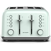 BUYDEEM DT-6B83 4-Slice Toaster, Extra Wide Slots, Retro Stainless Steel with High Lift Lever, Bagel and Muffin Function…
