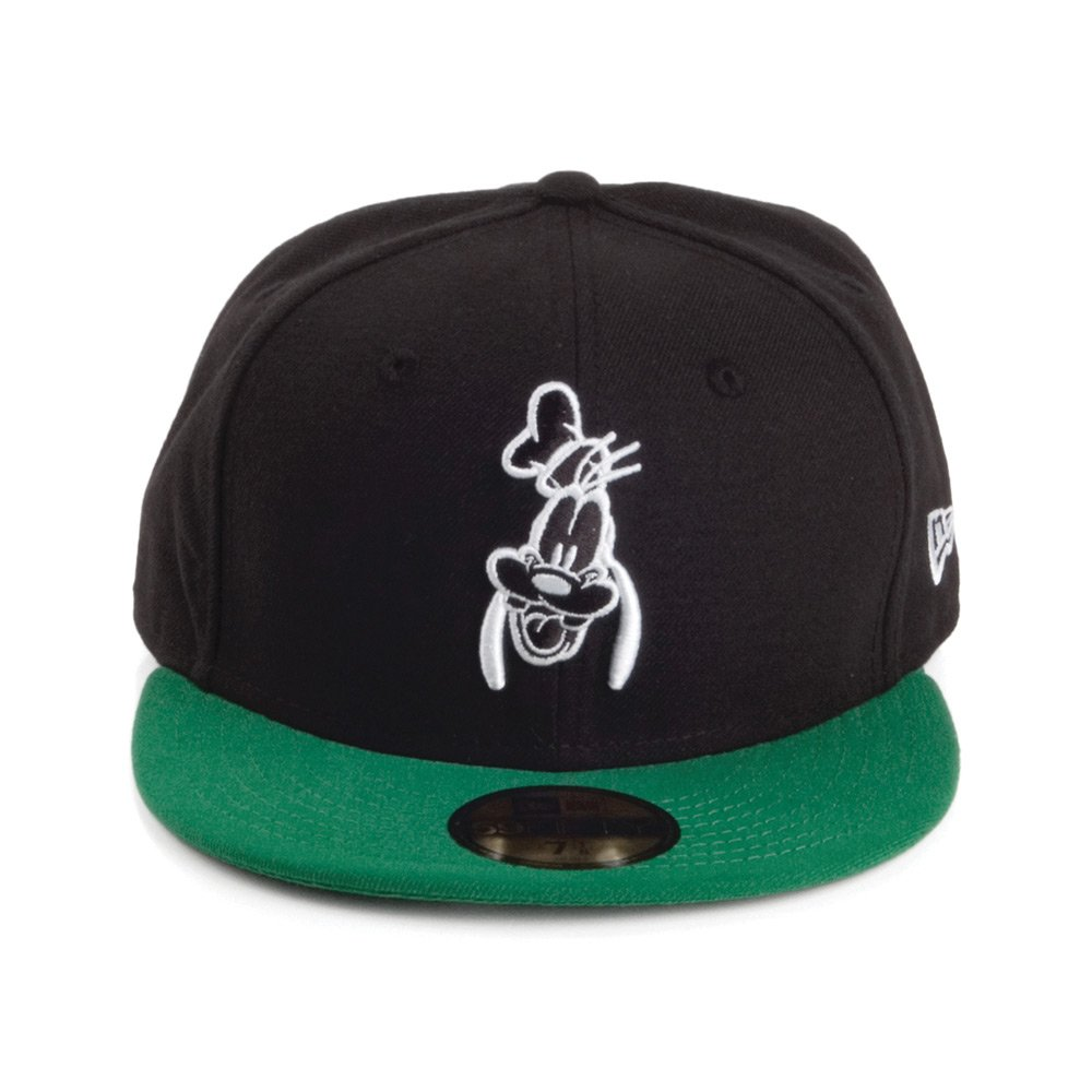 a81ad54bf2f New Era 59FIFTY Disney Goofy Baseball Cap - Black-Green 7 1 8   Amazon.co.uk  Clothing