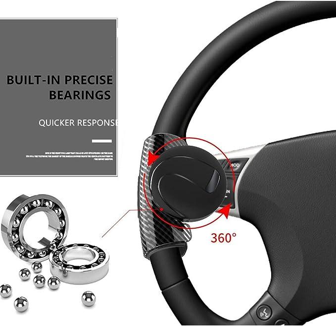 Pomo de volante de silicona con aspecto de carbono, accesorio ...