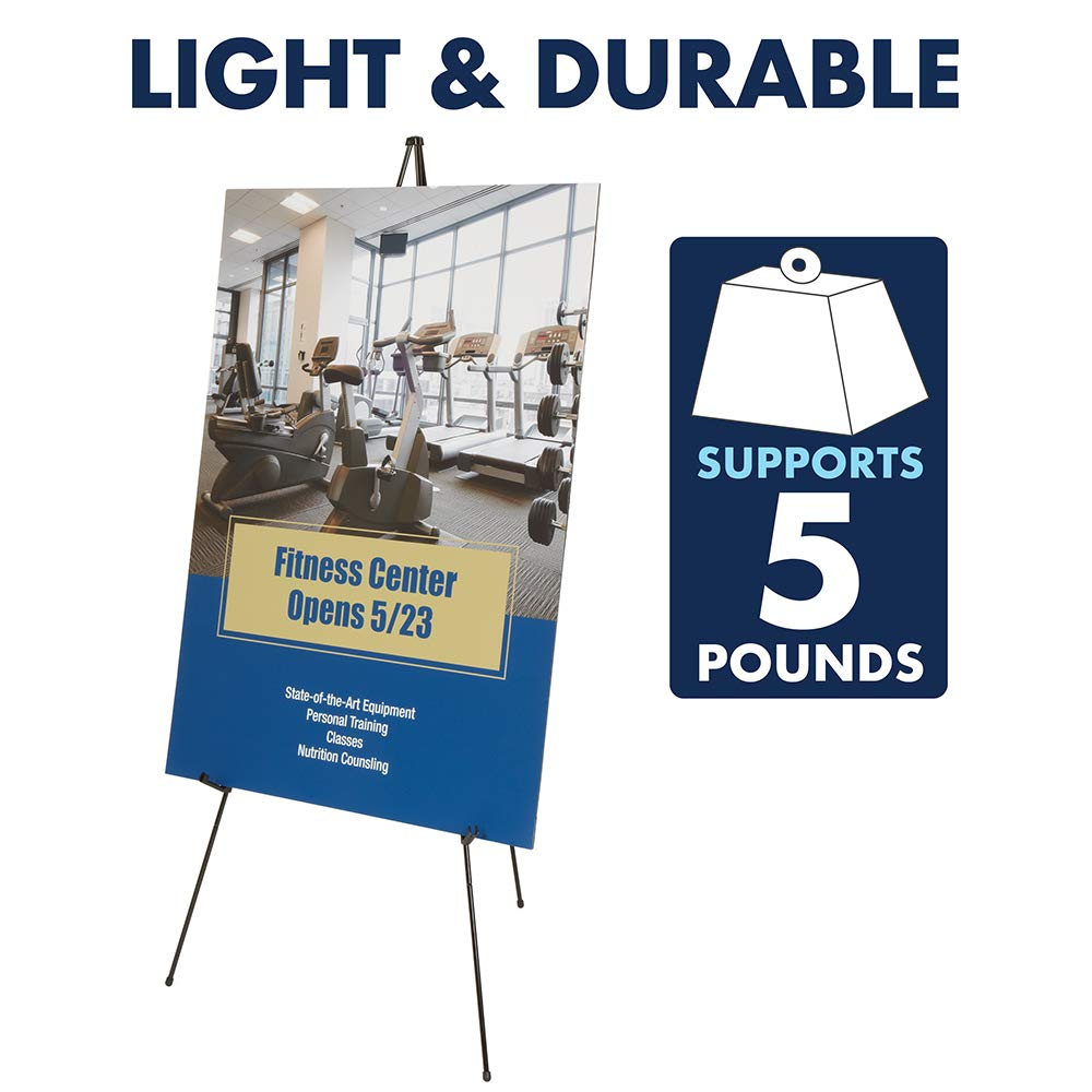 Quartet Easel, Instant, Portable, Tripod, Base 63'' Max. Height, Supports 5 lbs. (29E) by Quartet (Image #2)