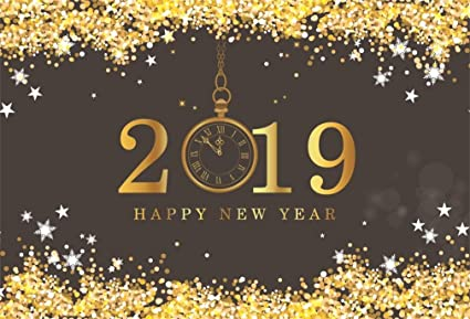 Amazon Com Yeele 7x5ft Happy New Year Backdrop 2019 New Year S Eve Midnight 12 O Clock Twinkling Gold Background For Photography Party Celebrate Decoration Boy Adult Photo Booth Shoot Vinyl Studio Props