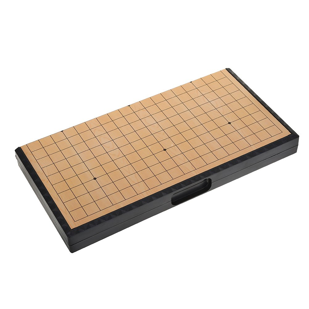 VGEBY Go Game Travel Set Weiqi Set with Magnetic Folding Board Educational Games for Kids 1