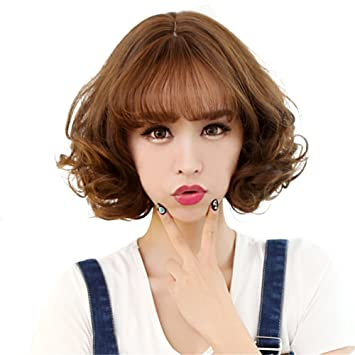 Amazon Bestlee Synthetic Korean Style Short Natural Curly Wig