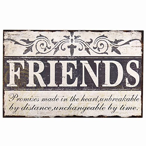 Adeco [SP0106] Decorative Wood Wall Hanging Sign Plaque