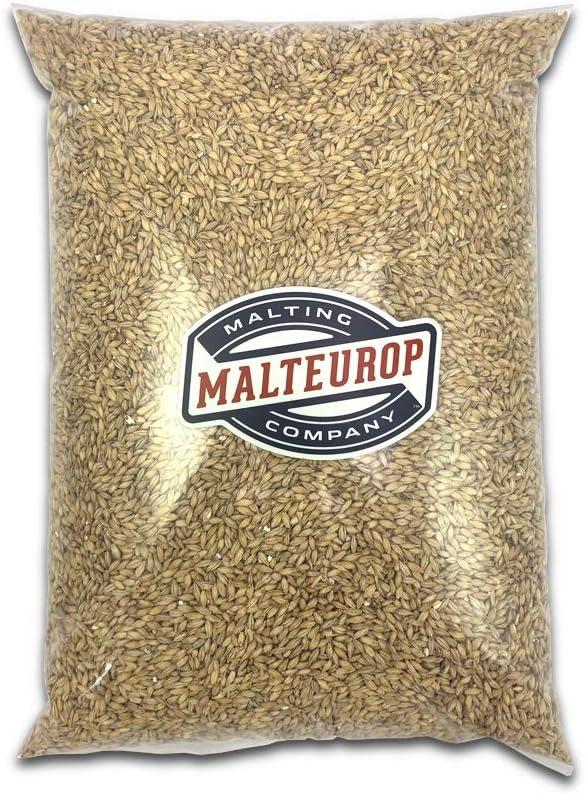 B07T5FGF98 MALTEUROP 2-ROW-10 Professional 2 Row Brewers Barley, Base Malt for Homebrewing, Distilling, North American, Current Crop Year, Not Milled (Whole), 10 lb, Golden 61JCMwuzjzL