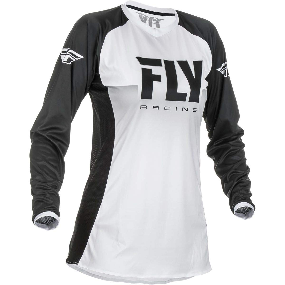 XX-Large Fly Racing 2019 Womens Lite Jersey White//Black