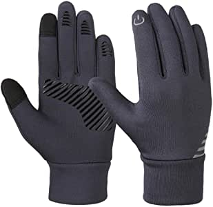 Luckyjun Kids Winter Gloves Anti-Skid Touch Screen Gloves Soft Outdoor Sports Warm Gloves with Reflective Printing Silicone Strip - M: Amazon.es: Deportes y aire libre