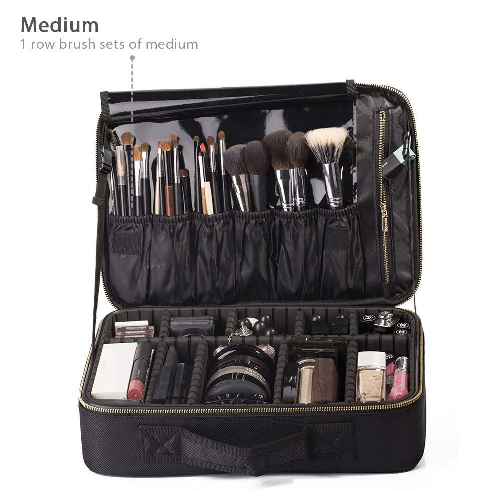e1f7f87c01256 ROWNYEON Makeup Case Travel Makeup Bag Train Case Professional Portable  Cosmetic Makeup Brushes Organizer Case Cosmetic