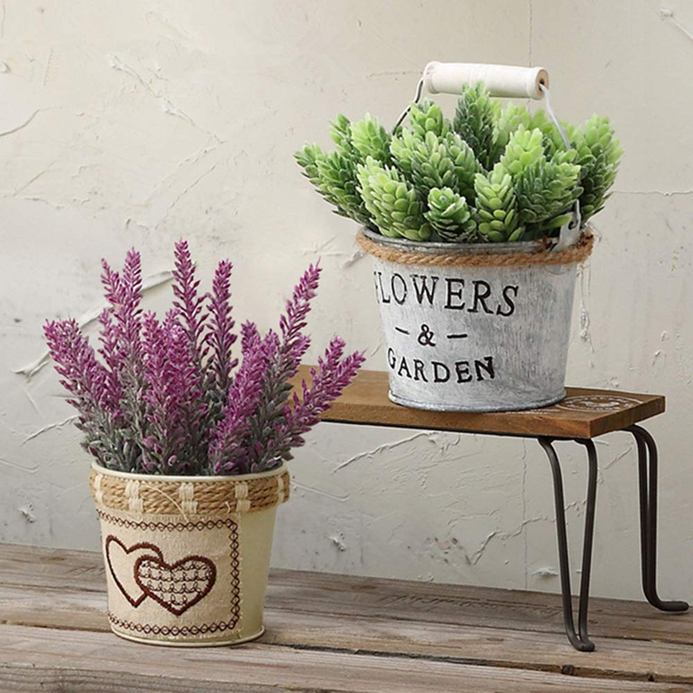 Yunuo 4PCS Artificial Romantic Provence Lavender Flowers Real-Looking Fake Flowers Home Party and Wedding Decor red