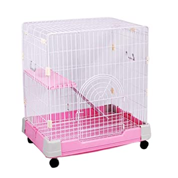 Tsdhjk - Jaula de Metal para Mascotas, diseño de Cerca, Color Rosa ...
