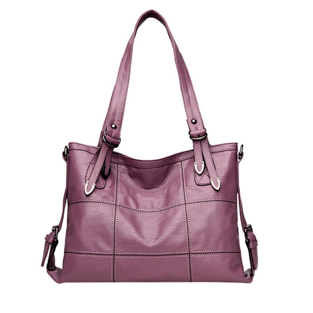Gotd Womens Girls Leather Handbag Crossbody Shoulder Bag Tassel Messenger Strap Messenger Casual Tote on sale Clearance travel kids Coin Phone (Purple)