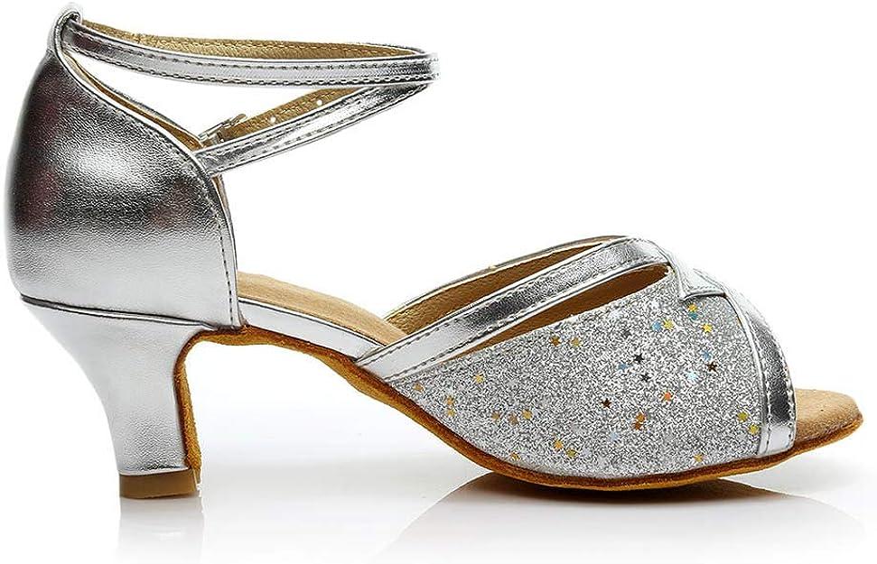 DAY.LIN Chaussures de Danse Femmes Escarpins Ballerines Moderne Talons Bas Rumba Waltz Prom Ballroom F/ête Latin Tango Danse du Salsa Talons Couleur Pure Sandales 34-41