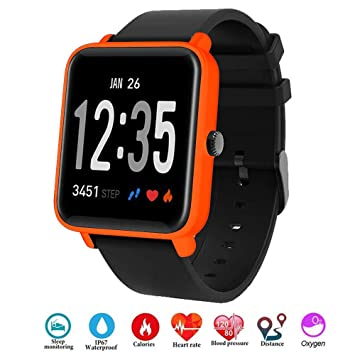 Fitness Tracker IP68 Impermeable Monitor, Letopro Rastreador de Pulsera Actividad Smartwatch Soporte Monitor de ritmo cardíaco Podómetro de presión ...